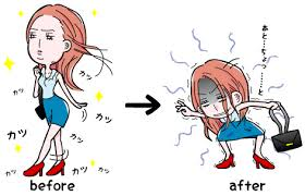 heel before after