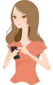 smart phone lady